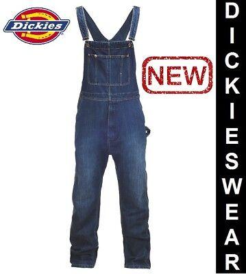 Dickies BIB Stonewashed Mens Regular Fit Latzhose Jeans Overall - Regular Fit Stone Washed Jean