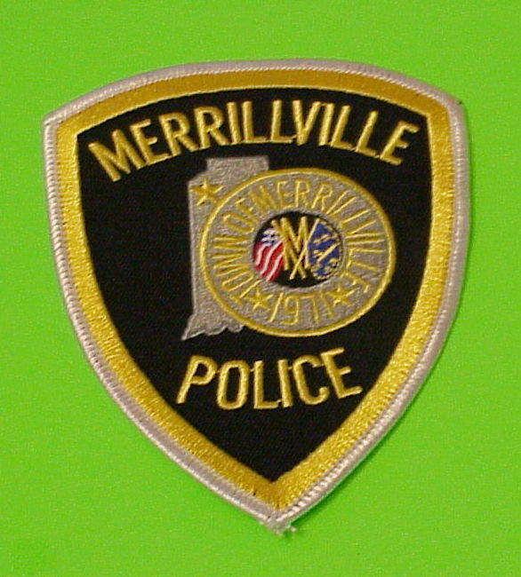MERRILLVILLE  INDIANA  1971  IN   POLICE DEPT. PATCH  FREE SHIPPING!!