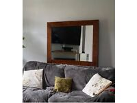 Next large wooden wall mirror