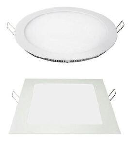 FARO-FARETTO-LED-PANNELLO-SLIM-3W-6W-12W-18W-INCASSO-A-MOLLA-ROTONDO-QUADRATO