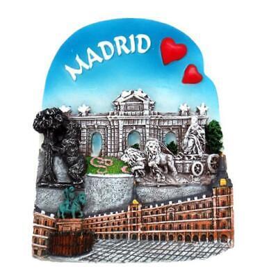 Madrid Magnet Souvenir Spanien Plaza de Cibeles,Puerta Alcala,Neu !!! (Magnet Madrid)