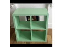 IKEA mint green kallax 2x2 box shelf unit