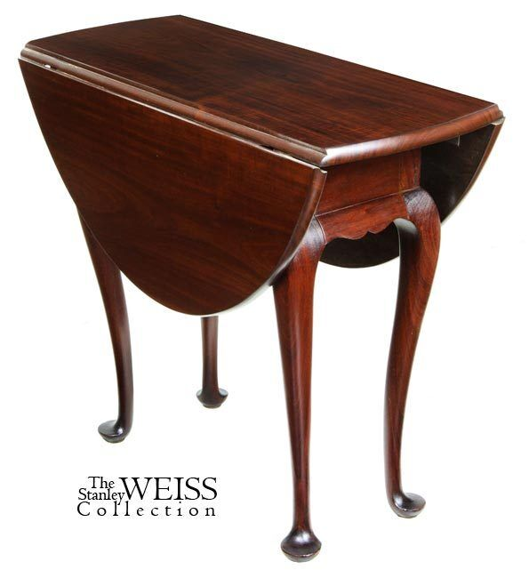 SWC-A Mahogany Queen Anne Style Drop Leaf Table