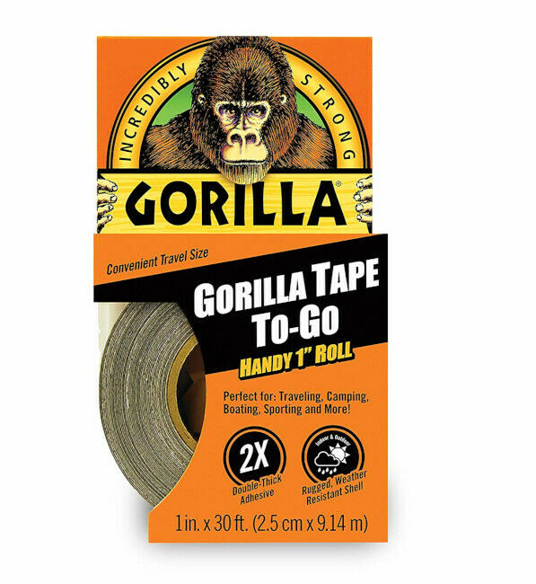 Gorilla Duct Tape Roll Handy To Go Uneven Surfaces Strong Adhesive Fast Repair