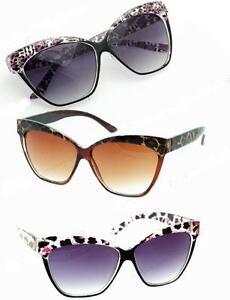 New-Large-50s-Womens-Cat-Eye-Sunglasses-Black-Purple-Green-Yellow