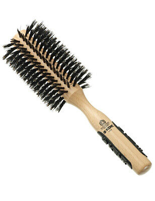 Kent PF03 Large Natural Shine Radial Bristle Round Wooden Hair Brush Hairbrush segunda mano  Embacar hacia Spain