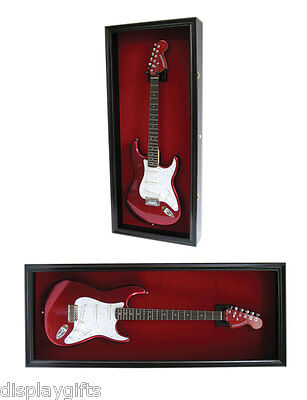 Shadow Box Guitar Display Case Cabinet for Electric Guitar, Fender Les Paul More