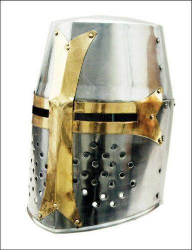 Knight Armor Crusader New Templar Helmet Helm w/Mason