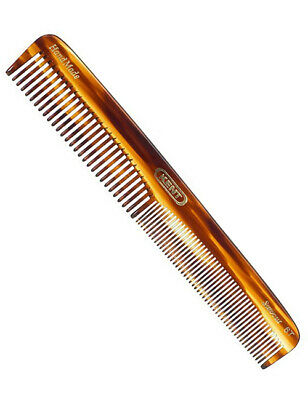 Kent 6T 175mm Hand Made Medium Size Coarse Fine Toothed Hair Dressing Comb