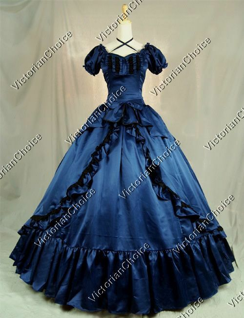 Victorian Southern Belle Winter Holiday Dress Steampunk T...