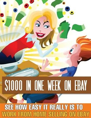 PDF $1000 In A Week On eBay ebook + Free Shipping +...