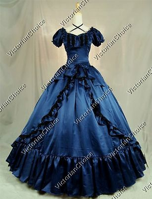 Victorian Civil War Southern Belle Scarlett O'Hara Theater Ball Gown Dress 206 M](Southern Belle Dress)