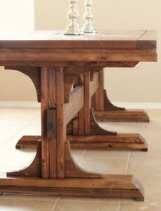 Pedestal Farmhouse Table Kitchener / Waterloo Kitchener Area image 1