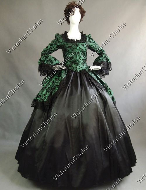 Renaissance Victorian Christmas Dress Holiday Party Gown ...