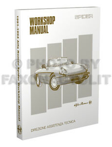 Alfa-Romeo-Spider-Repair-Shop-Manual-1991-1992-1993-1994-Veloce-Service-Book-CE