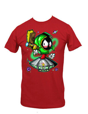 Looney Tunes Marvin The Martian with Ray Gun Red T-Shirt Size SMALL NEW UNWORN - Marvin The Martian Ray Gun