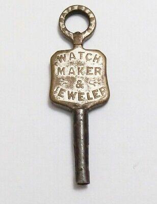 Old advertising pocket watch key Herman Plack Harrisburg PA jeweler watch maker
