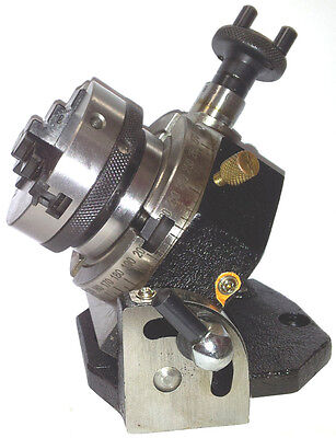 Rotary Table Tilting 3 75mm With 65mm Lathe Chuck For Milling Machine