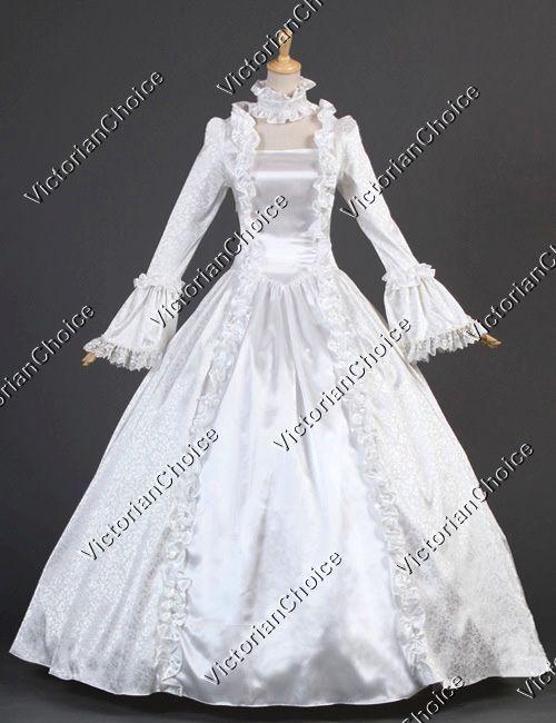 Rinascimento Vittoriano Vintage Abito da Sposa Teatro Qualità Abbigliamento 119