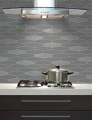 Tile wallpaper brick effect glitter washable vinyl kitchen for Tile effect kitchen wallpaper