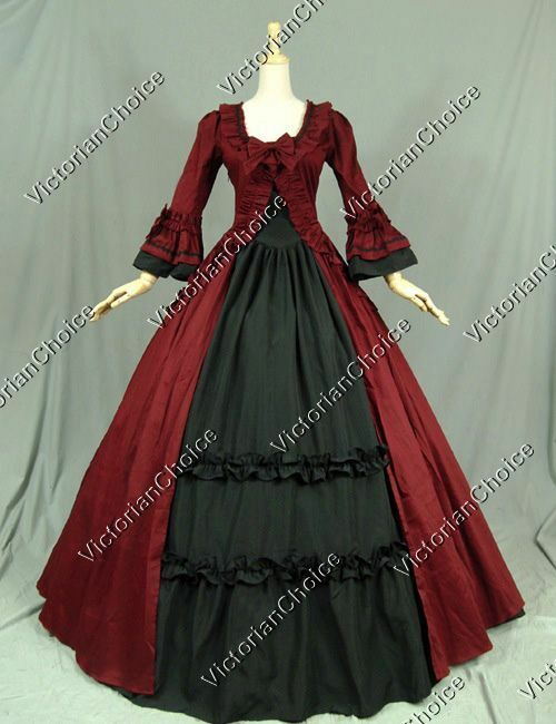 Renaissance Christmas Caroler Carol Gown Dress Reenactmen...