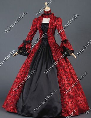 Victorian Georgian Masquerade Dress Ball Gown Steampunk Vampire Costume 138 - Vampire Women Costumes