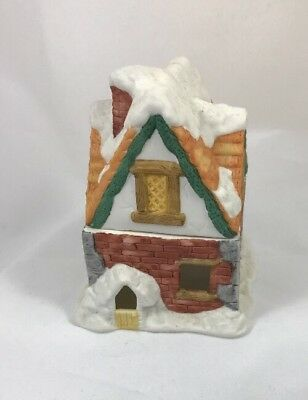 Ceramic 1987 SNOW HOUSE  Willitts 2 Pieces Includes LED TeaLight