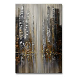 Metal Art Silver City by Osnat Abstract Modern Citiscape Wall Decor