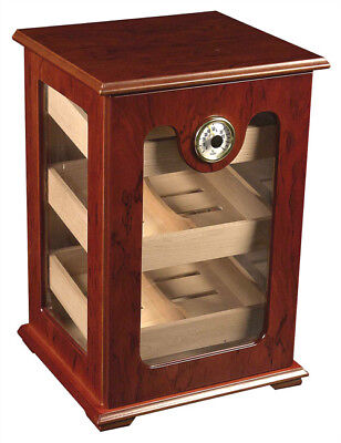 150 ct CIGAR HUMIDOR - RED WOOD GREAT DISPLAY SHOW CASE