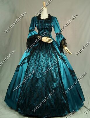 Renaissance Marie Antoinette Steampunk Masquerade Ball Gown Gothic Dress 142 L