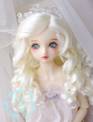 1/4 Bjd Wig Dal Pullip SD LUTS MSD DOD DOC DD Dollfie Doll wigs white