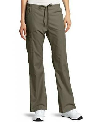 Womens Missy Every Day Scrubs Back Elastic Flare Leg Pant Taupe (Everyday Ladies Flare Scrub Pant)