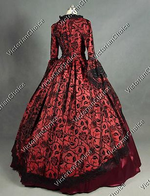 Renaissance Victorian Masquerade Gown Prom Dress Steampunk Theater Wear 143 XXXL