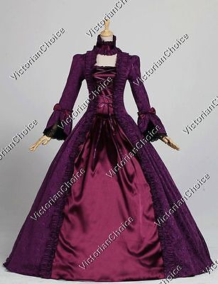Renaissance Gothic Victorian Masquerade Ball Gown Theater Steampunk Clothing 138