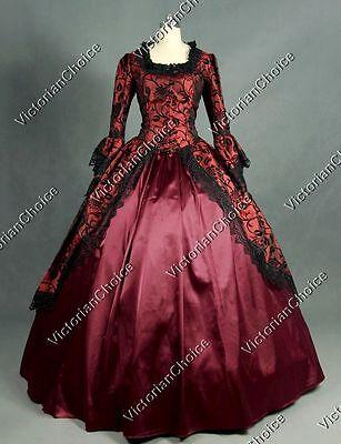 Renaissance Gothic Princess Dress Steampunk Vampire Halloween Costume N 143 M