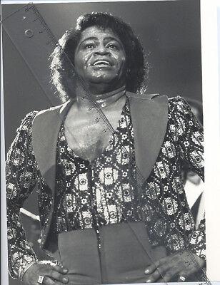 Foto amerikanischer Sänger JAMES BROWN  Vintage 1988 - Pressefoto Soul Blues USA