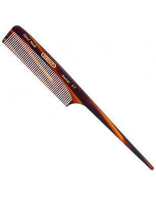 Kent Brushes 8T Handmade Saw Tail Comb Fine Hair Teeth 190mm Length A8T