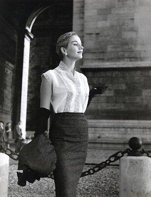 Walde Huth Fashion Photograph, Paris 1950c 8x10 Stamped