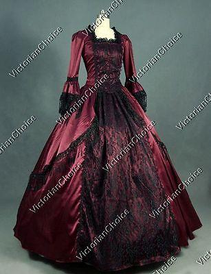 Renaissance Marie Antoinette Masquerade Dark Vampire Gown Halloween - Masquerade Vampir Kostüme