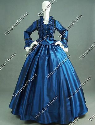 Civil War Victorian Dress Masquerade Ball Gown Reenactment Theater Costume 170