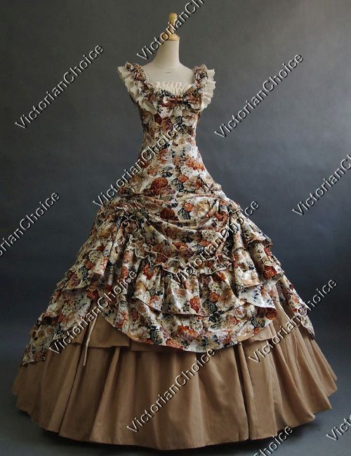 Southern Belle Princess Victorian Floral Dress Ball Gown ...