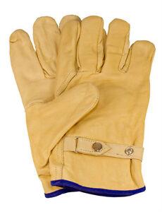 3 Paar Rind-/Vollleder - Handschuhe, Größe:10, durchgehend gefüttert (CE)