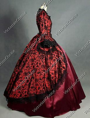 Renaissance Victorian Masquerade Ball Gown Fancy Dress Steampunk Theater 143 XL