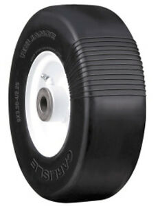 Two-9x350x4-Carlisle-flatproof-tires-for-mower-deck-Grasshopper-and-Woods