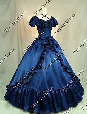 Victorian Princess Fancy Dress Ball Gown Witch Ghost Halloween Costume N 206 XL