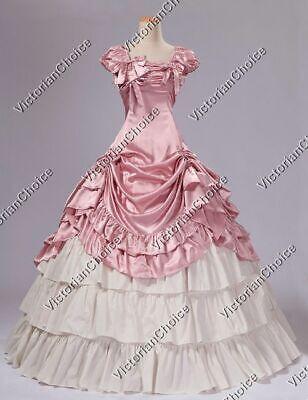 Southern Belle Princess Fancy Dress Ball Gown Reenactment Halloween Costume 270