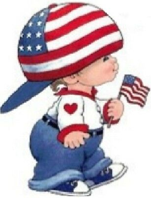 30 Custom Usa Patriotic Boy Personalized Address Labels