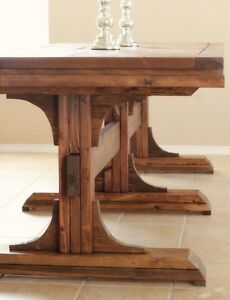 Pedestal Farmhouse Table Cambridge Kitchener Area image 1