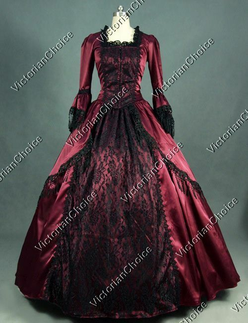 Renaissance Marie Antoinette Christmas Carol Dress Steamp...