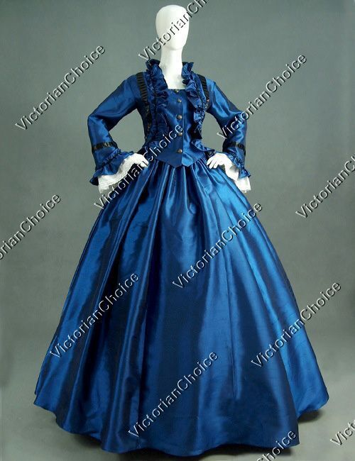 Civil War Victorian Christmas Caroler Dress Winter Holida...